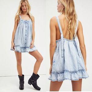 NWT Free People Wild One Denim Mini Dress